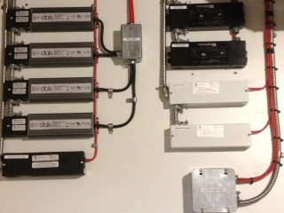 Regina electrical panel with transformers and LED drivers