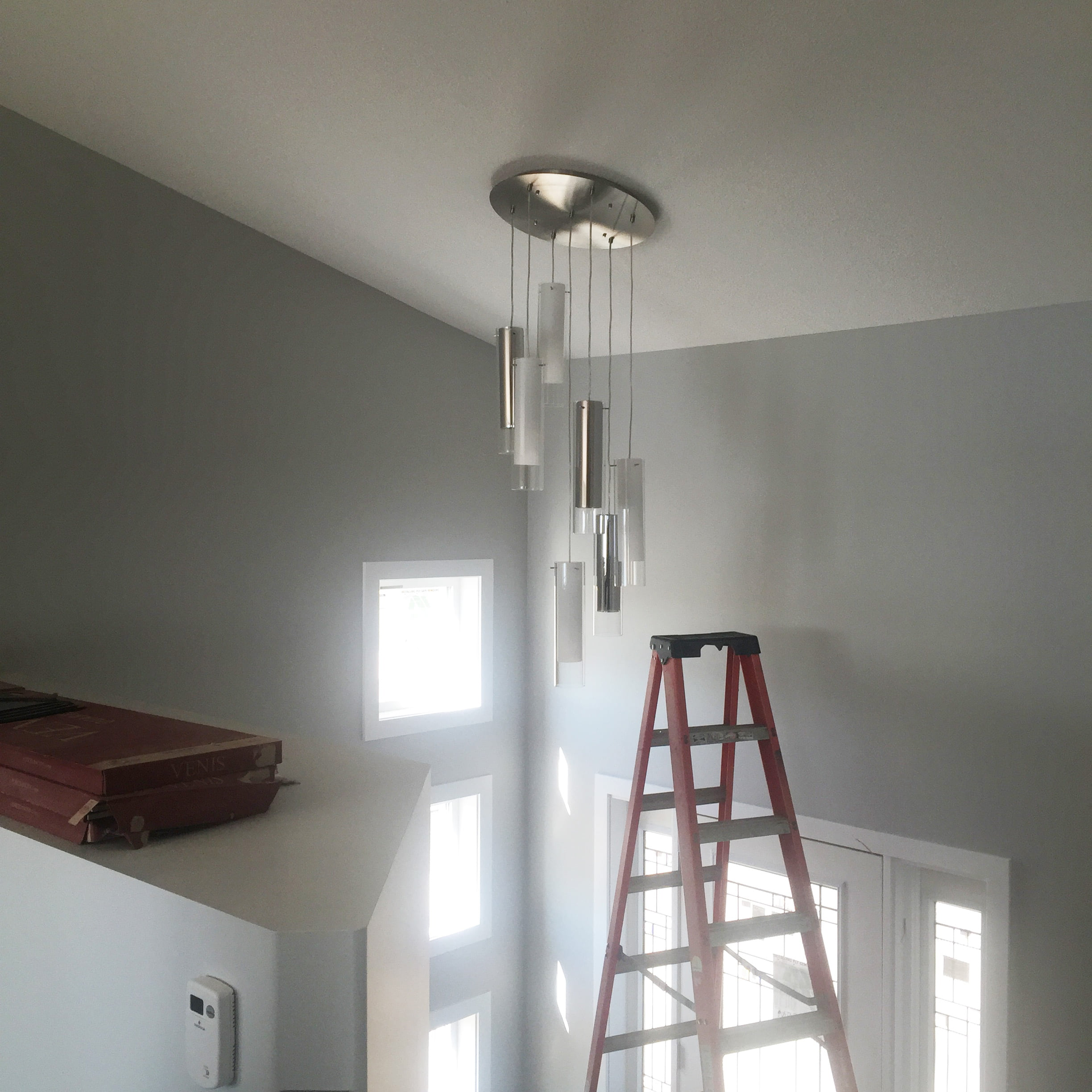 Regina electrician - hang difficult light fixture