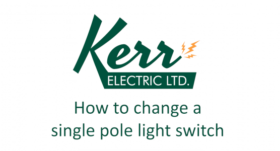 How to Change a Single Pole Light Switch